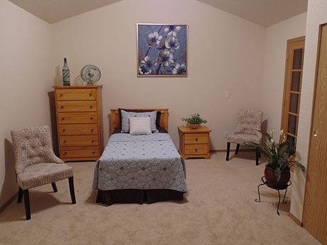 A photo of one of A Big Heart Adult Family Home's private rooms.